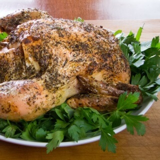 Lemon Garlic Roast Chicken