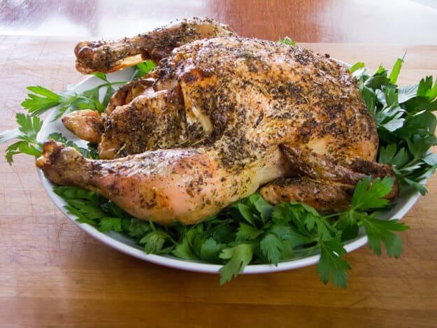 Simple Herb Lemon Garlic Roast Chicken