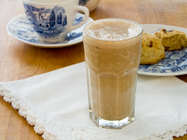 Espresso Protein Shake is creamy and thick like a frozen espresso drink from the coffee shop — but high-protein, dairy-free, soy-free and refined sugar-free.