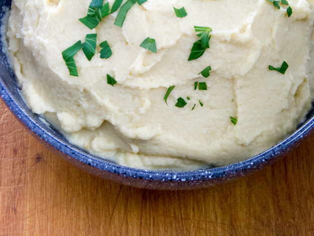 Mashed Cauliflower with White Truffle Oil