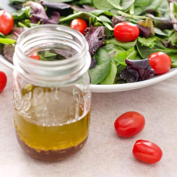 This quick and easy chipotle balsamic vinaigrette is a great weeknight salad dressing recipe. No chopping and hardly any measuring — just pour everything in a jar and shake. |cookeatpaleo.com
