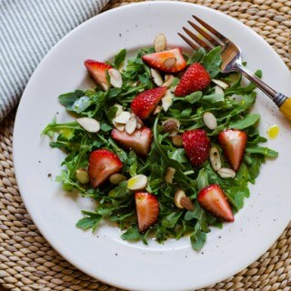 Arugula Strawberry Salad with Meyer Lemon Vinaigrette