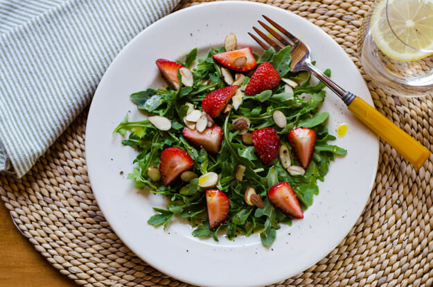 Strawberry Arugula Salad with Meyer Lemon Vinaigrette