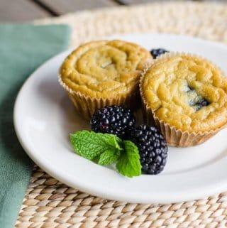 Paleo Banana Blackberry Muffins