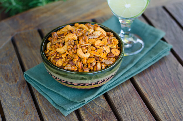 Paleo Snack Mix with drink