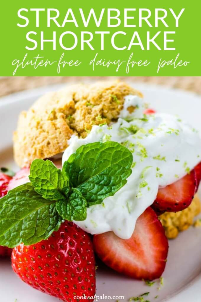 Strawberry Shortcake & Lime Coconut Cream (Paleo, Gluten Free, Dairy Free)