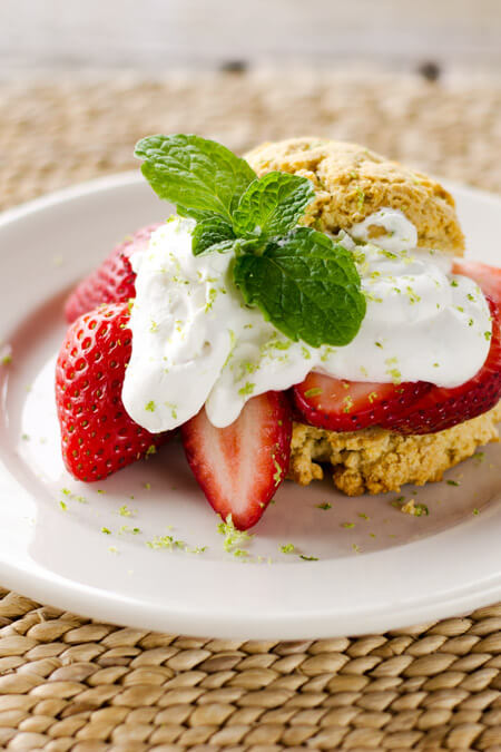 Paleo Strawberry Shortcake & Lime Coconut Cream on cookeatpaleo.com/paleo-strawberry-shortcake