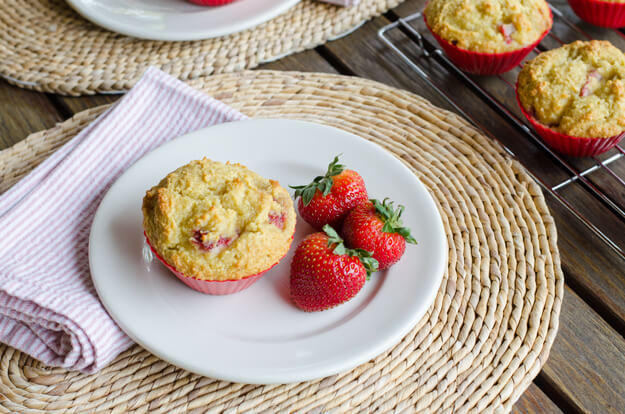 Strawberry Paleo Muffins - Paleo Summer Berry Recipes