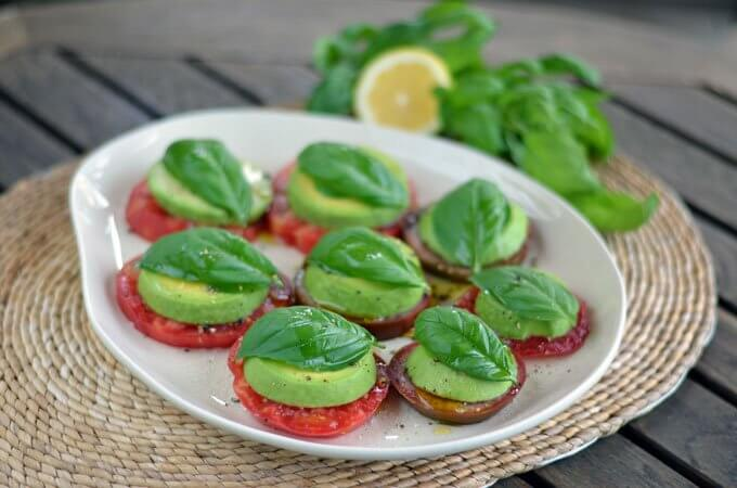 Heirloom Tomato Avocado Salad   Cook Eat Paleo