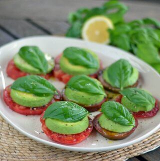 Easy Avocado Caprese Salad (Dairy Free)