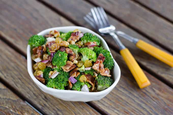 Broccoli Salad- with Bacon| Cook Eat Paleo