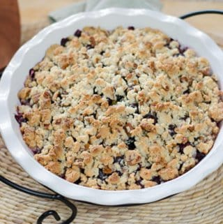 Paleo Peach Blueberry Crisp