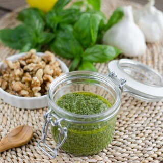 Roasted Garlic Walnut Pesto
