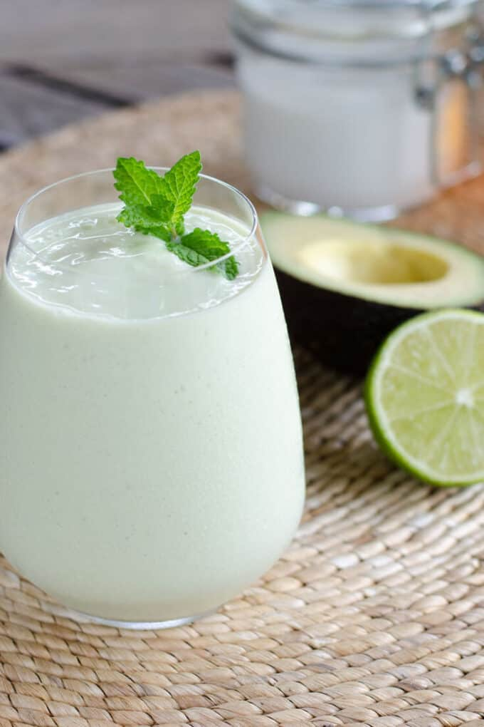 key lime pie smoothie - cook eat paleo