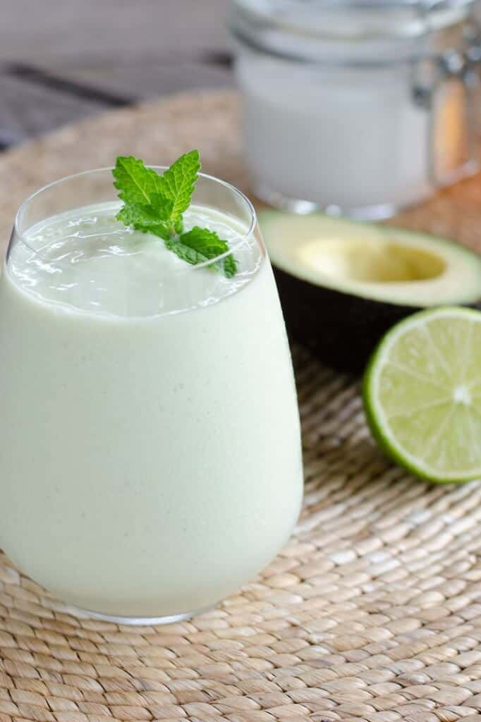 Even though this paleo key lime pie smoothie is gluten-free, dairy-free and egg-free, it's decadent enough for dessert. And it's faster than baking a pie. | cookeatpaleo.com