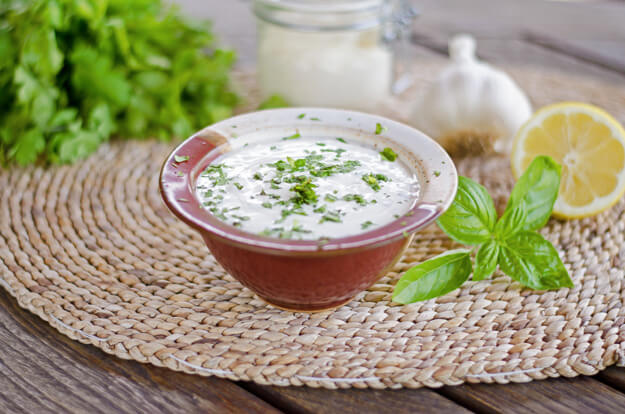 This is my favorite quick and easy paleo ranch dressing or dip. It's completely dairy-free and only takes a minute or two to stir together. | cookeatpaleo.com