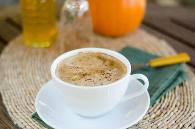 Pumpkin Spice Coconut Latte | Cook Eat Paleo