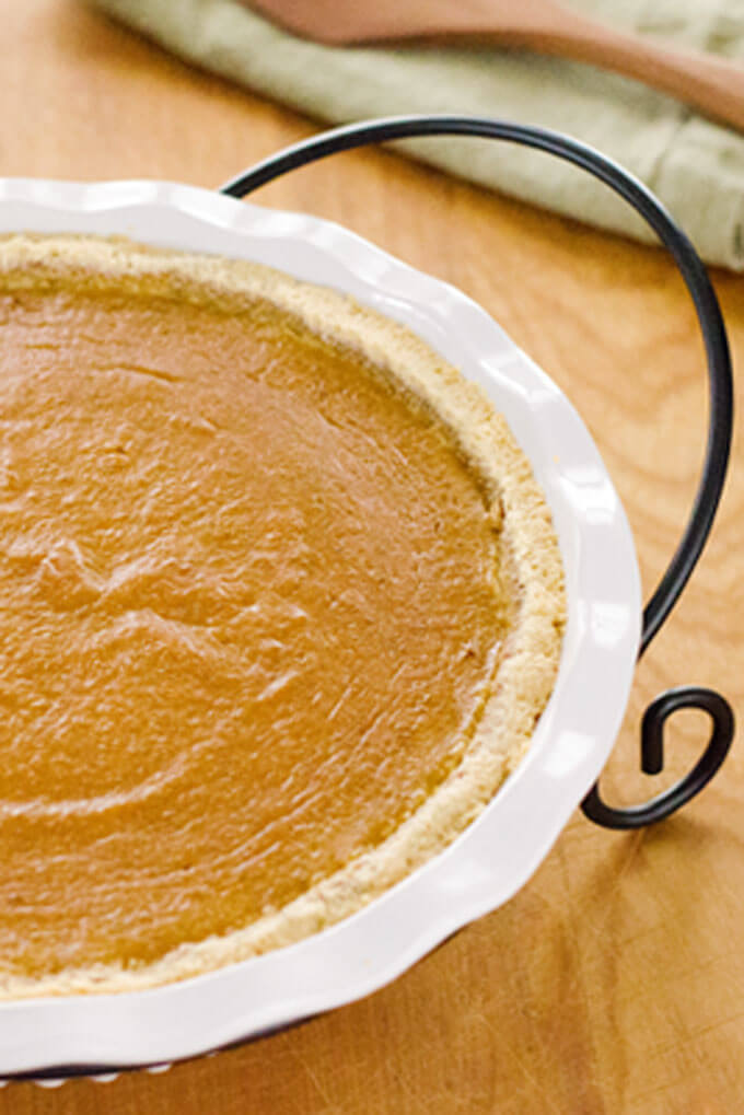 Paleo Pumpkin Pie | 15 Paleo Pumpkin Recipes to Try This Fall | Cook Eat Paleo
