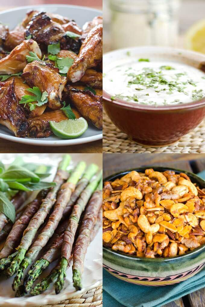 These paleo Super Bowl snacks have something for everyone. They're keto, Whole30, gluten-free, and grain-free. There are even some vegan options for your Super Bowl party! #superbowl #ketorecipes #whole30recipes #cookeatpaleo