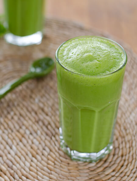 This green smoothie has just 3-ingredients. It's paleo, gluten-free, and dairy-free — with no added sugar. And it tastes like a pina colada.   cookeatpaleo.com/3-ingredient-green-smoothie