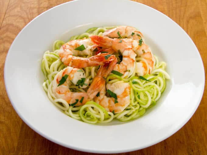 Garlic Shrimp with Zucchini Noodles