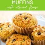 Gluten free chocolate chip muffins with almond flour!