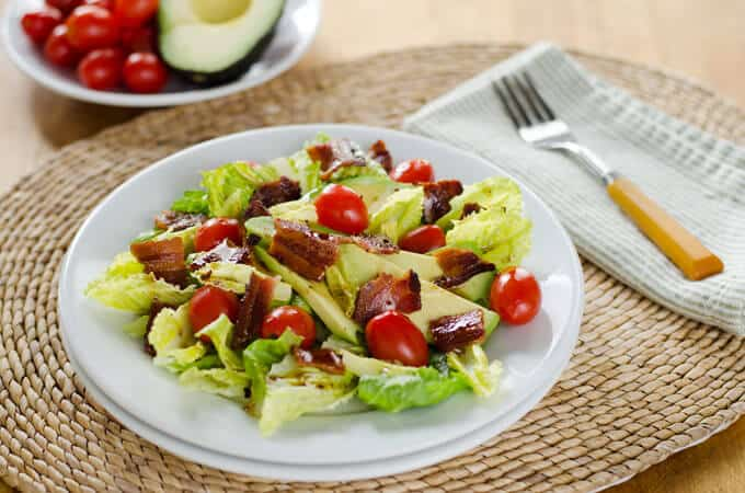 BLT Salad with Avocado and Chipotle Dressing | 7 Fresh Tomato Recipes to Make Now | Cook Eat Paleo