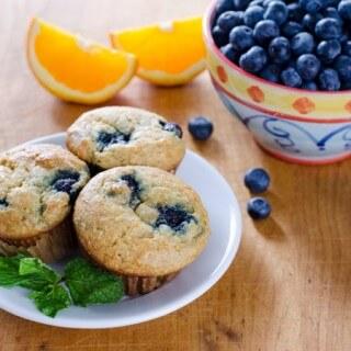 Paleo Orange Blueberry Muffins