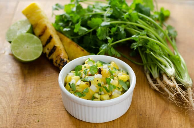 Grilled Pineapple Salsa - cookeatpaleo.com/grilled-pineapple-salsa