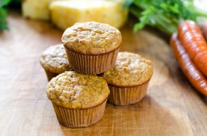 Paleo Carrot Pineapple Muffins