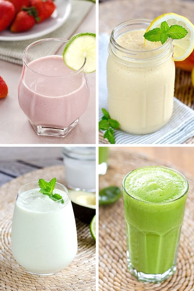 7 paleo smoothie recipes to get you through the week - including green smoothie, coconut milk smoothie, and protein shake recipes. All are dairy-free, refined sugar-free, and gluten-free. |Cook Eat Paleo