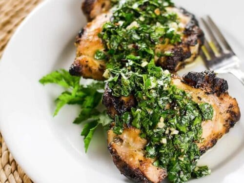 Image result for grilled chicken with chimichurri sauce