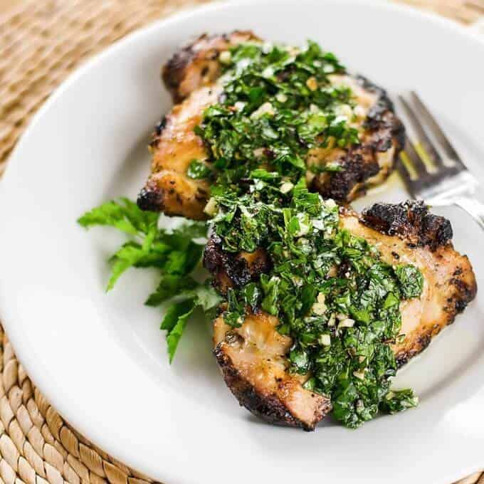 Grilled Chicken with Chimichurri Sauce | Cook Eat Paleo
