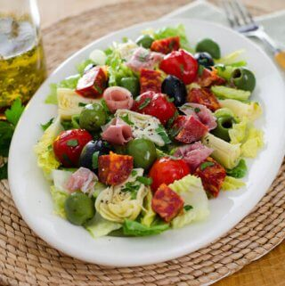 Antipasto Salad with Easy Italian Dressing
