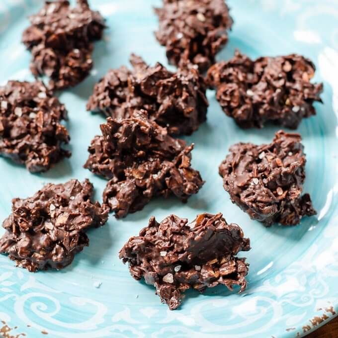 Keto Chocolate Almond Haystacks - Cook Eat Paleo