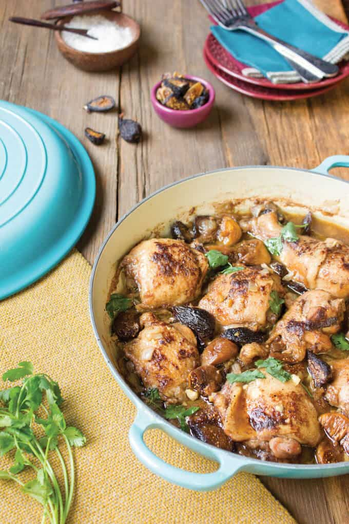 Fig and Ginger Chicken Tajine recipe from Mediterranean Paleo Cooking