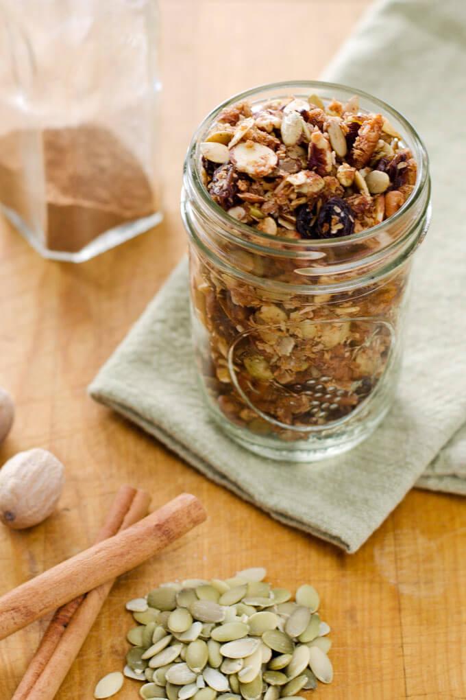 Cinnamon Raisin Spice Paleo Granola