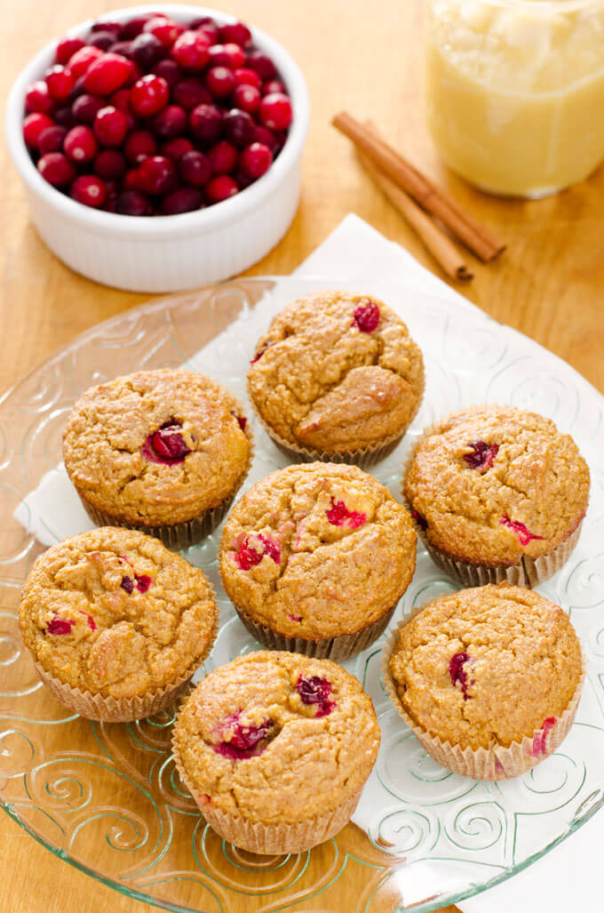 Cranberry Applesauce Muffins are a quick and easy paleo breakfast. | cookeatpaleo.com