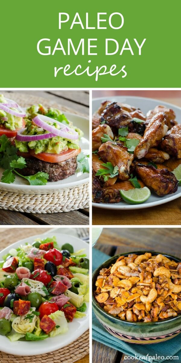 35 Paleo Super Bowl Recipes | Gluten Free Game Day Eats - tailgate favorites chili, chips, dips, wings, burgers, and more made healthy.