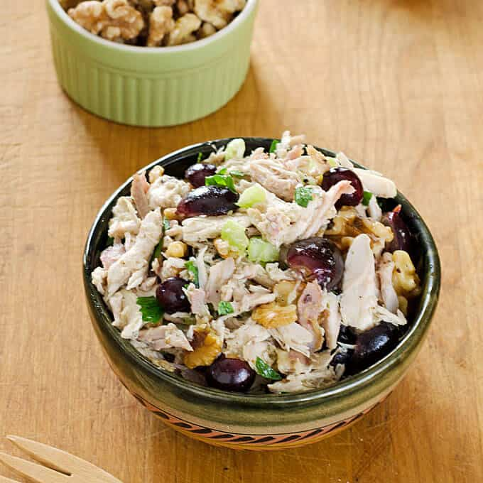 Chicken Salad with Grapes and Walnuts | cookeatpaleo.com