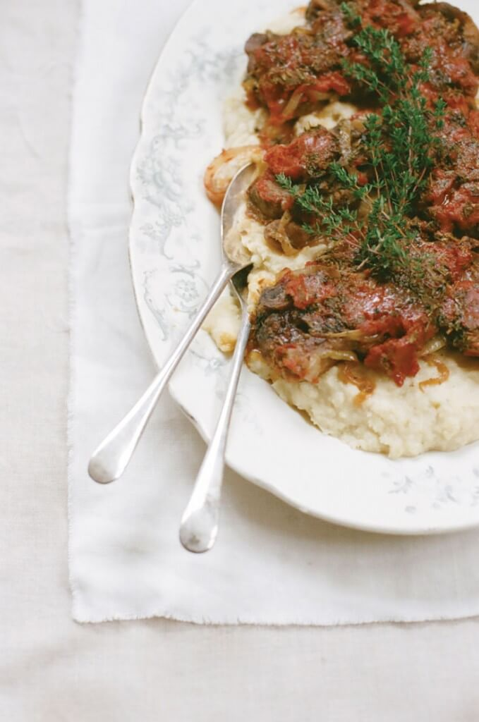 Italian Braised Lamb Shoulder Chops recipe from The Homegrown Paleo Cookbook by Diana Rodgers