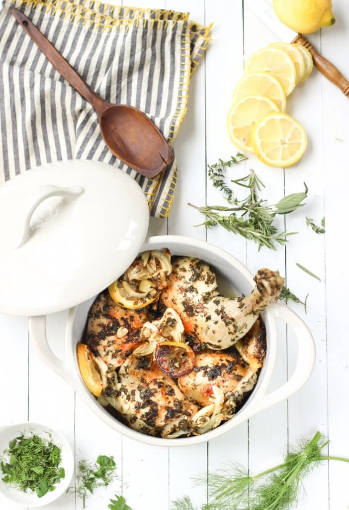 It will look like you spent all day in the kitchen slaving over this beautiful paleo chicken dish but in reality you spent about 10 minutes prepping and the rest is cooking time.