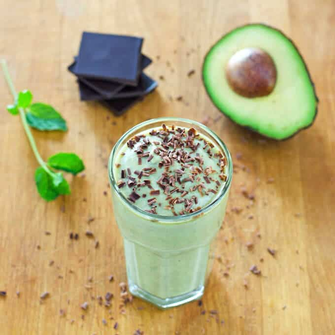 Healthy Shamrock Shake recipe made with coconut milk, avocado, and fresh mint. | Cook Eat Paleo