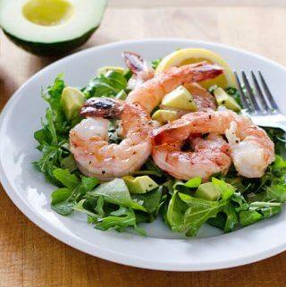 Shrimp and Arugula Salad