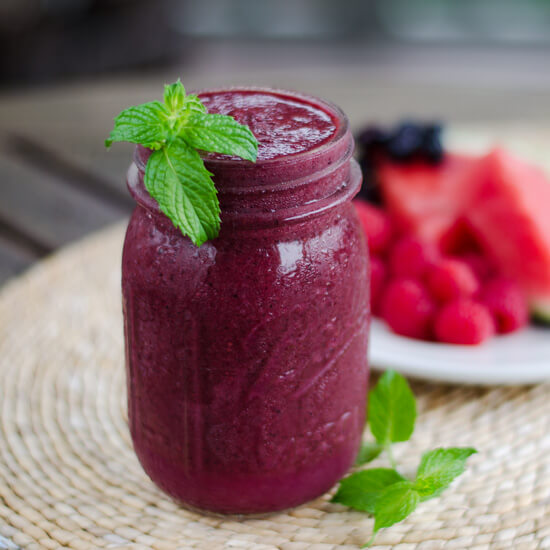 Watermelon Berry Smoothie   101 Ultimate Paleo Grilling Recipes for Easy Summer Meals