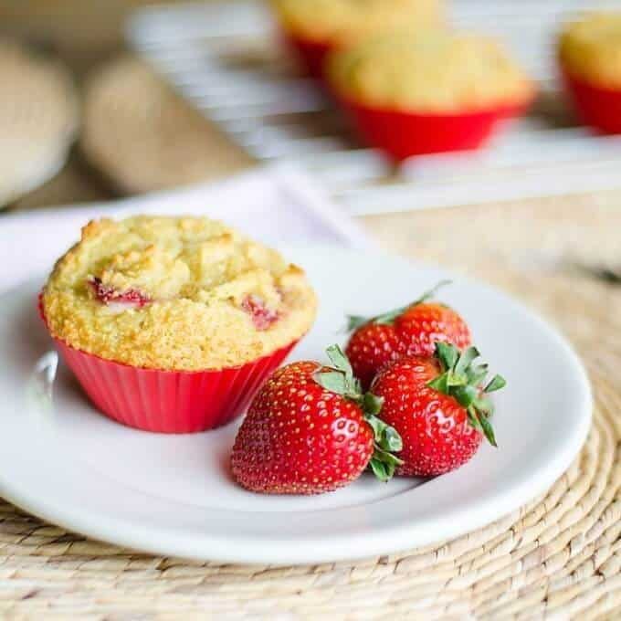 Paleo Strawberry Muffins | Gluten Free Grain Free Recipe | Cook Eat Paleo