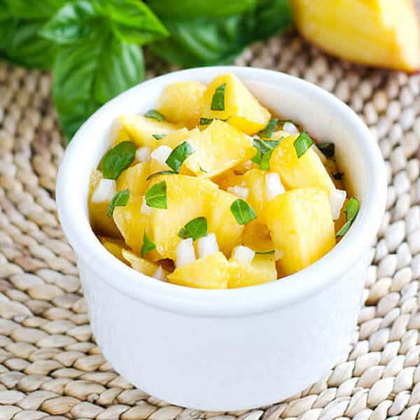 Peach Basil Salsa - Easy Paleo Dip & Salsa Recipes