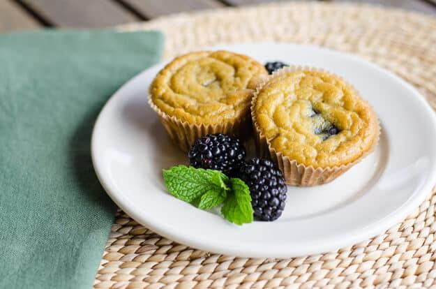Paleo Banana Blackberry Muffins | Top 10 Paleo Muffins | cookeatpaleo.com