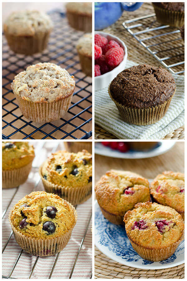 10 paleo muffins recipes with almond flour or coconut flour - all gluten-free, grain-free and refined sugar-free. Make ahead for easy breakfasts or snacks!   cookeatpaleo.com