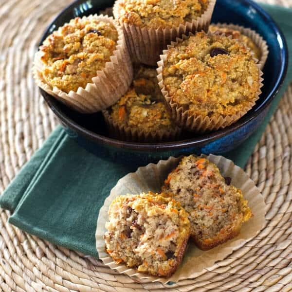 An easy paleo carrot raisin muffin recipe with cinnamon and walnuts - gluten-free, grain-free, dairy-free and refined sugar-free. |cookeatpaleo.com